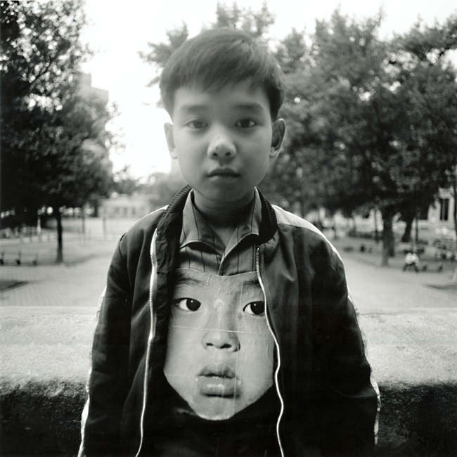 Arthur Tress - Boy with Chinese Mask, New York City, NY