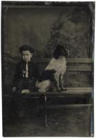 Studio Portrait of a Boy and his Dog