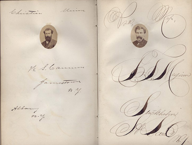Anonymous (Various Makers, American) - Photograph and Autograph Book of the Students of Albany Law School Class of 1866