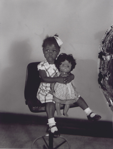 Photo Exhibit | Detail | Henry Clay Anderson - Little Girl With Black Doll in the Studio