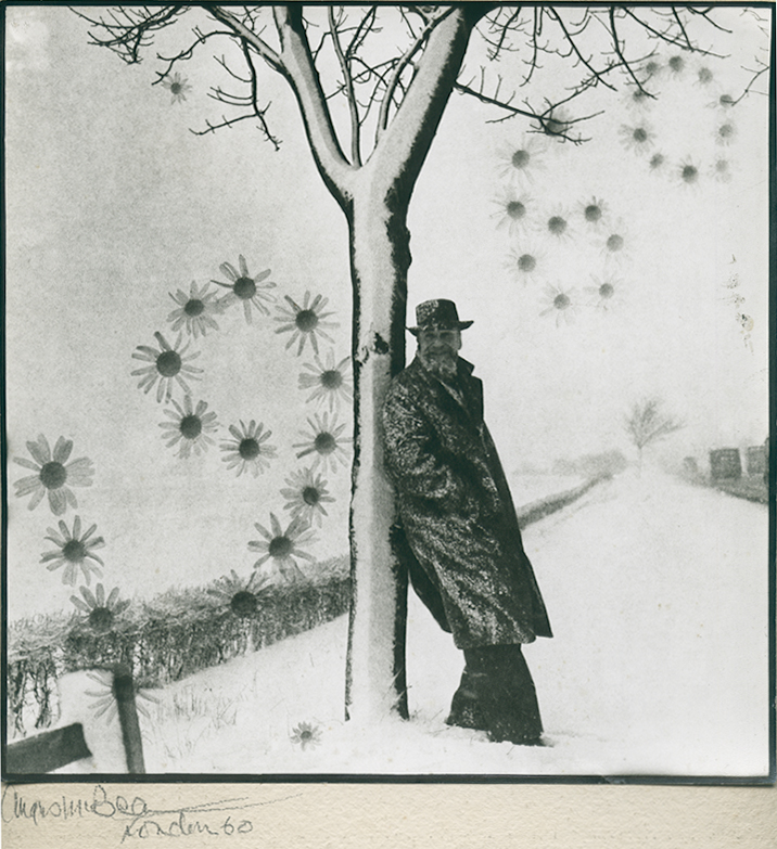 Angus McBean - Christmas Card 1960 - Self Portrait with Tree