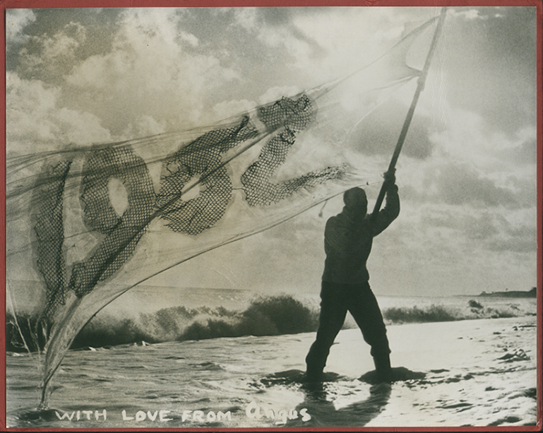 Angus McBean - Christmas Card 1962 - Self Portrait with Flag in the Water