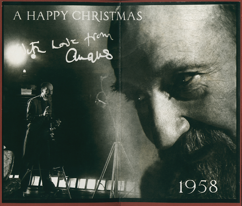 Angus McBean - Christmas Card 1958 - Double Self Portrait with Camera