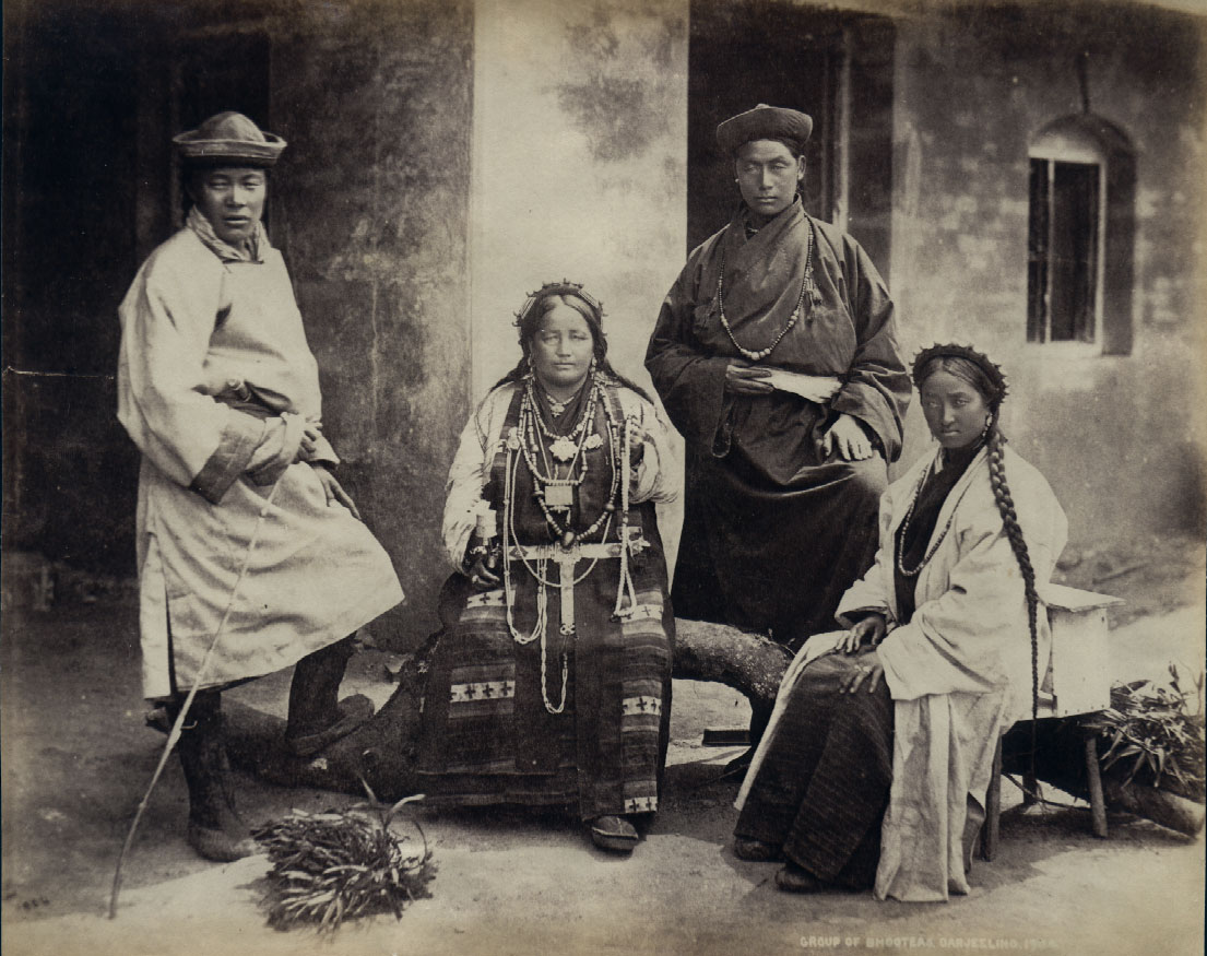 Samuel Bourne - Group Of Tibetan Bhooteas, Darjeeling