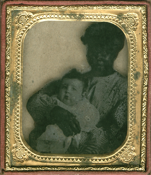 Anonymous, American - Portrait of a Young African American Nanny and her White Charge