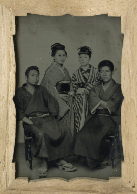 Anonymous, Japanese - Studio Portrait of Two Couples