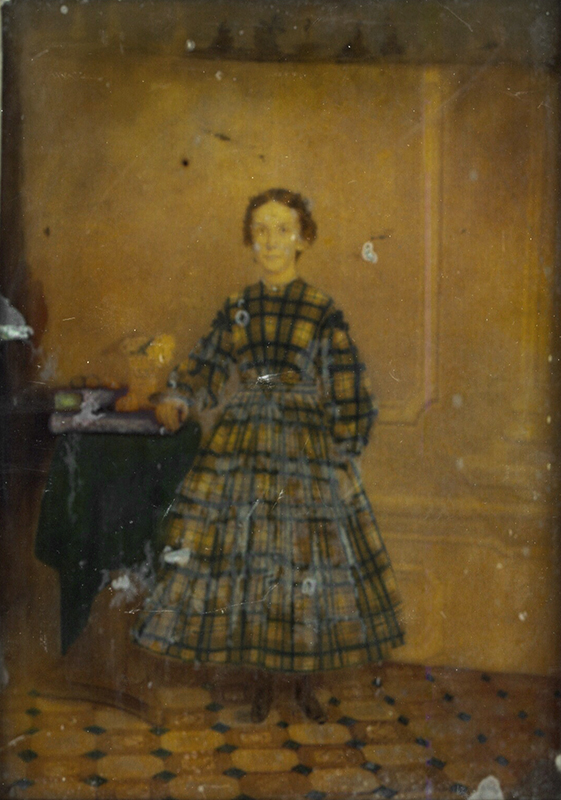 Anonymous, American - Portrait of a Young Girl in a Plaid Dress