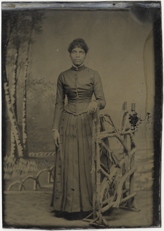 Anonymous, American - Portrait of an African American Woman in Long Pleated Skirt