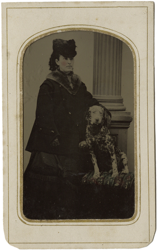 Photo Exhibit | Detail | Anonymous, American - Lady with a Dalmatian Puppy