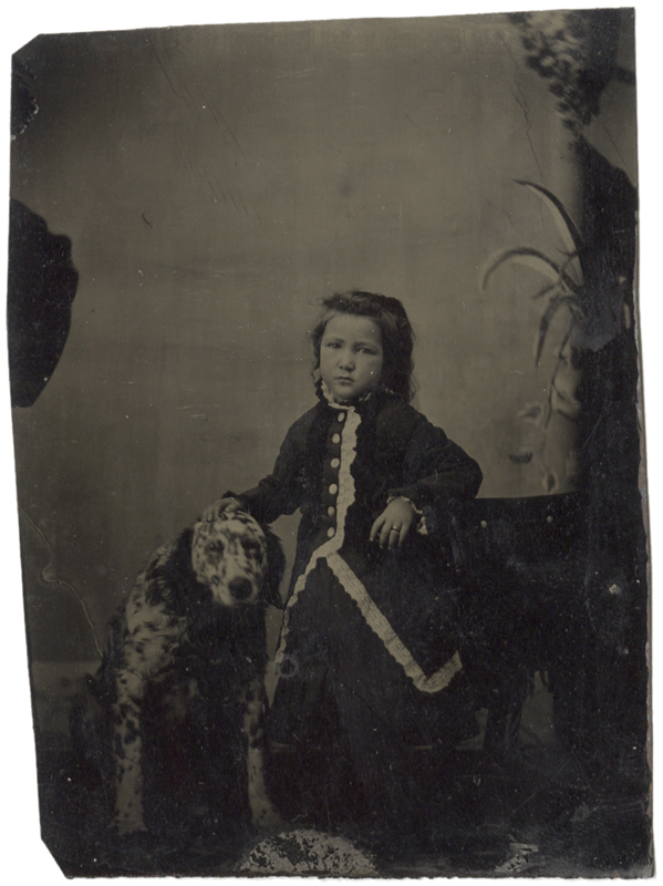 Anonymous, American - Dalmatian and Girl
