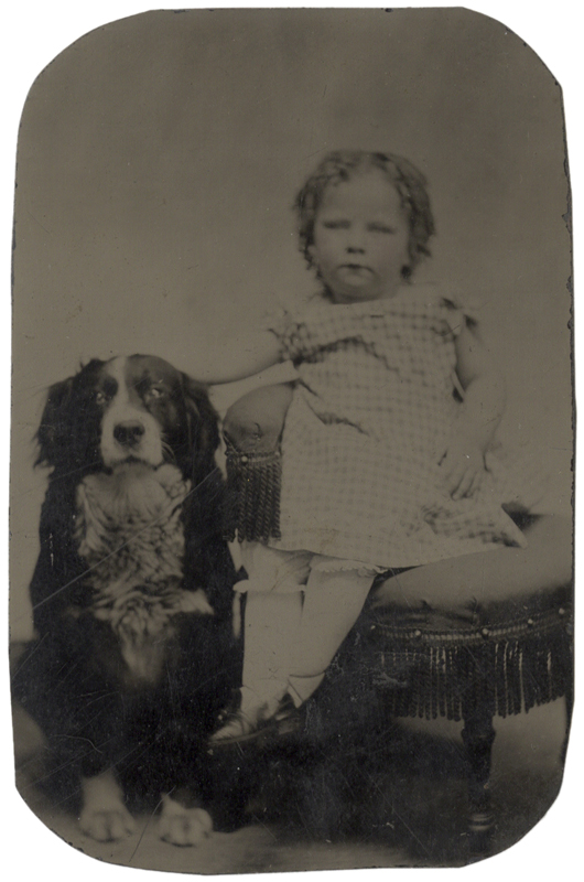 Photo Exhibit | Detail | Anonymous, American - Little Girl and a Dog