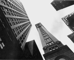 Ralph Steiner - Five Corner's Near Wall Street, New York