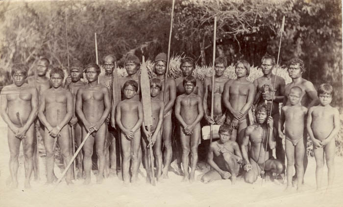 Anonymous - Group of African Men and Boys, Chowra Island (Part of the Nicobar Islands in the Bay of Bengal)