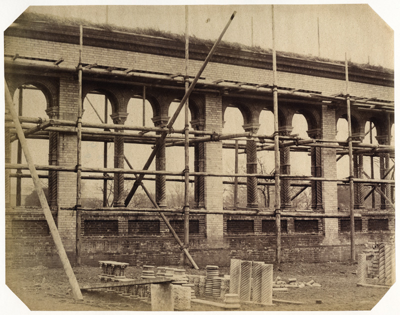 B. L. Spackman (attributed to) - Construction of the 1862 International Exhibition at South Kensington [Scaffolding]