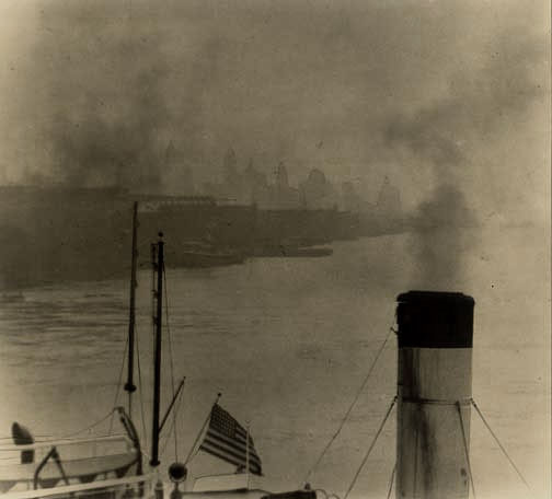 Sendai Shashin Kai - View of New York from Steamboat