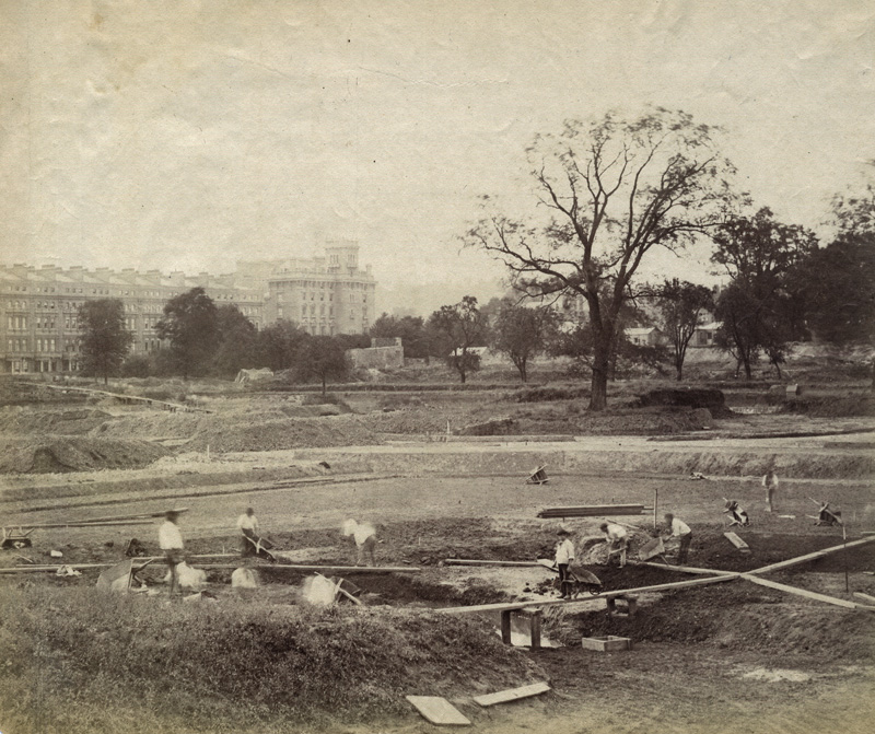 Anonymous - Construction of the Extensive Gardens at the1862 International Exhibition, South Kensington