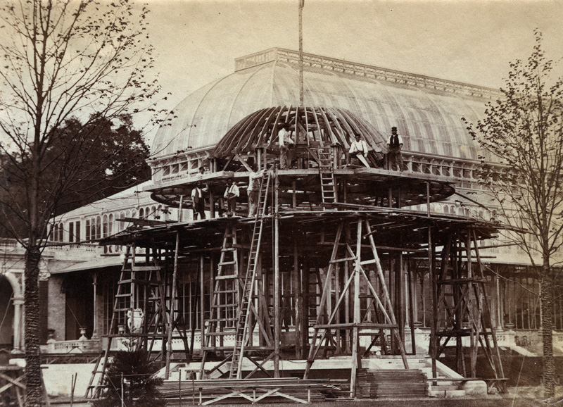 Anonymous - Construction of Captain Fowke's Great Conservatory, 1862 International Exhibition at South Kensington
