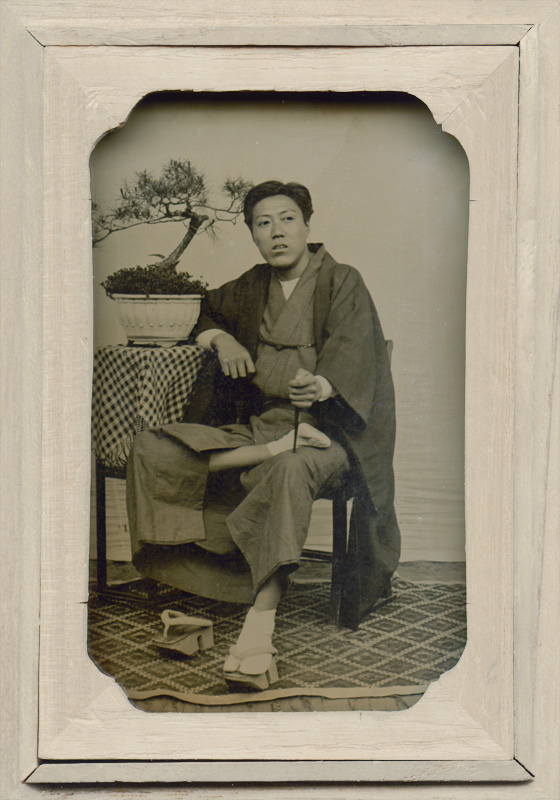 Anonymous - Portrait of Yoshida Shigeaki with One Foot on his Lap
