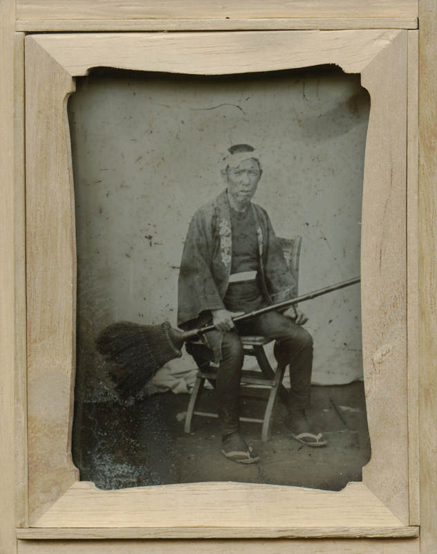 Anonymous - Seated Man with Broom, Sept. 24, 1891
