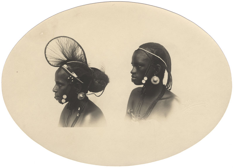 A. Deschacht - Guinea Francaise, Two Native Women, Oval Portrait