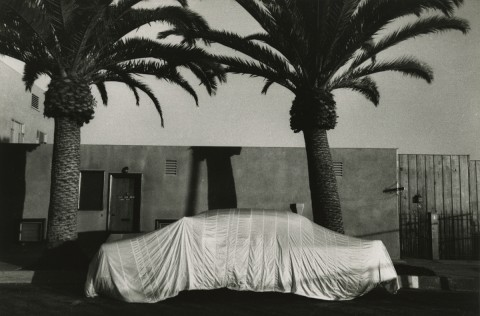 Robert Frank: Covered Car--Long Beach, California. Silver print, 6-3/16 x 9-3/8 in. (157 x 238 mm), 1956/1956c, unmounted. This was most likely one of the Guggenheim proof prints used for the